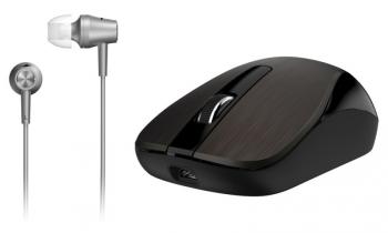 Myš Genius MH-8015 + sluchátka - čokoládová