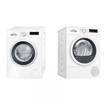 Set (Sušička prádla Bosch WTR85V00CS) + (Pračka Bosch Serie   4 WAN28260CS)