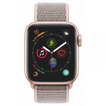 Chytré hodinky Apple Watch Series 4 GPS 40mm pouzdro ze zlatého hliníku - pískově růžový provlékací sportovní řemínek SK verze