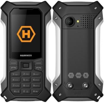 Mobilní telefon myPhone Hammer Patriot černý/stříbrný