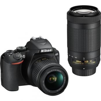 Digitální fotoaparát Nikon D3500 + 18-55 AF-P VR + 70-300 AF-P VR černý