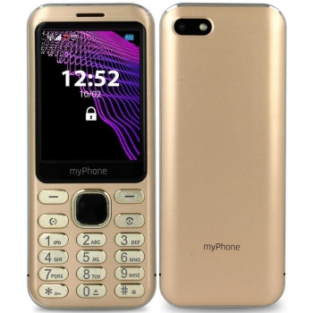 Mobilní telefon myPhone Maestro zlatý + dárek