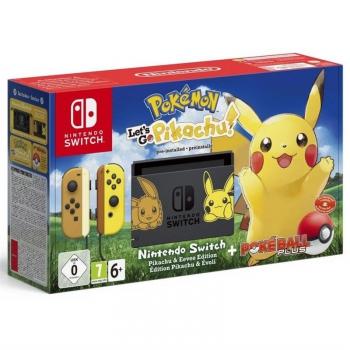 Herní konzole Nintendo SWITCH Pokémon: Let's Go Pikachu + Pokéball