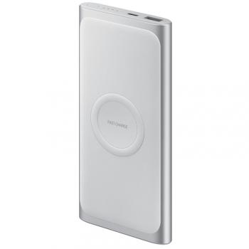 Powerbank Samsung 10000 mAh, USB-C, Qi stříbrná