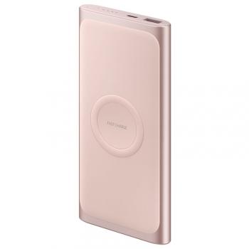 Powerbank Samsung 10000 mAh, USB-C, Qi růžová