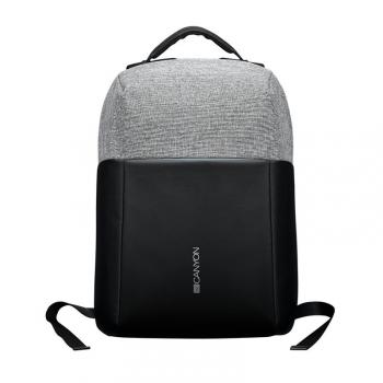 """Batoh na notebook Canyon Anti-theft pro 15.6"""", integrované USB černý/šedý"""