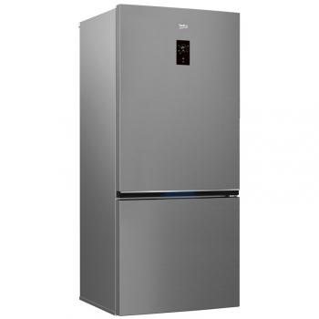 Chladnička s mrazničkou Beko RCNE720E3VZP titanium