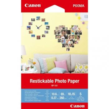 Fotopapír Canon RP-101, přelepovatelný, 10x15 cm, 5 listů