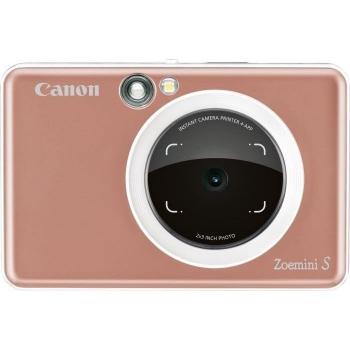 Digitální fotoaparát Canon Zoemini S růžový/zlatý + dárek