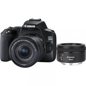 Digitální fotoaparát Canon EOS 250D + 18-55 IS STM + 50f/1.8 STM černý