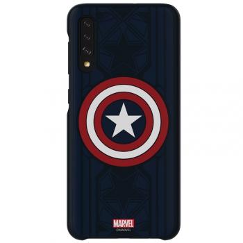 Kryt na mobil Samsung Smart Cover Captain America na Galaxy A50  modrý