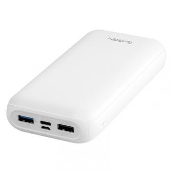 Powerbank GoGEN 20000 mAh, USB-C PD 18W bílá