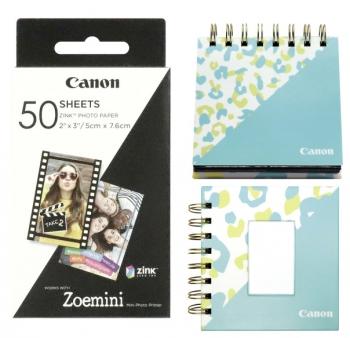 Fotopapír Canon ZP-2030, 50 x 76mm, 50ks, pro Zoemini + fotoalbum + stojánek