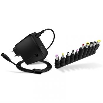 Napájecí adaptér Connect IT NomadPower univerzální pro notebooky 65 W + extra USB port