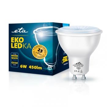 Žárovka LED ETA EKO LEDka bodová 6W, GU10, teplá bílá