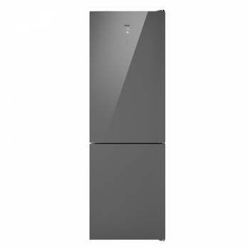 Chladnička s mrazničkou Candy CMGN 6184S stříbrná/sklo