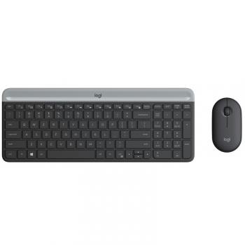 Klávesnice s myší Logitech Wireless Combo Slim MK470 šedá