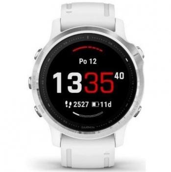 GPS hodinky Garmin fenix6S Glass stříbrné/bílé