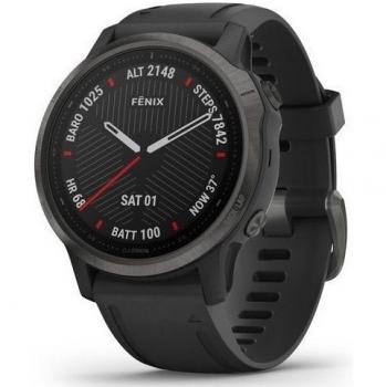 GPS hodinky Garmin fenix6S Sapphire (MAP/Music) černé/šedé