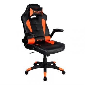 Herní židle Canyon Virgil černá/oranžová