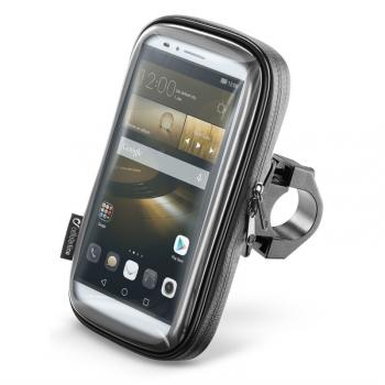 """Držák na mobil Interphone na telefony do velikosti 6,5"""", úchyt na řídítka černý"""