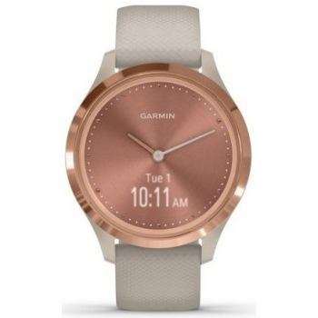 Chytré hodinky Garmin vivomove3S Sport RoseGold/Sand