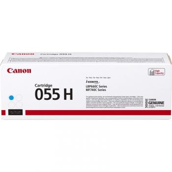 Toner Canon CRG 055 H, 5900 stran modrý