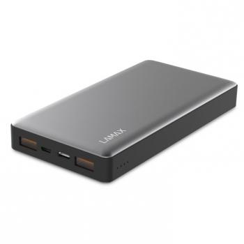 Powerbank LAMAX 15000 mAh, USB-C PD, QC 3.0 stříbrná