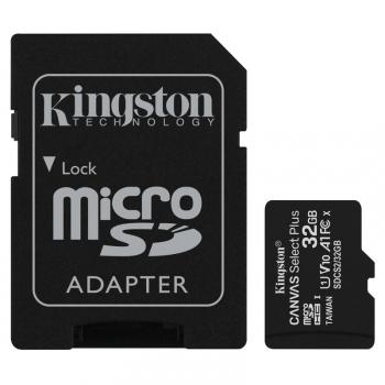 Paměťová karta Kingston Canvas Select Plus MicroSDHC 32GB UHS-I U1 (100R/10W) + adapter