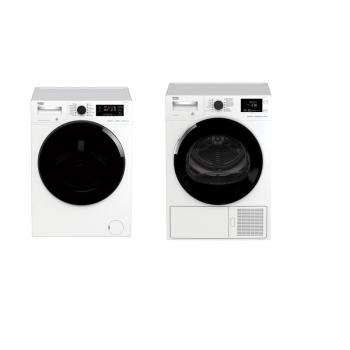 Set (Sušička prádla Beko DH 8544 CSFRX) + (Pračka Beko WTV 8744 CSXWADST)