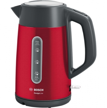 Rychlovarná konvice Bosch DesignLine TWK4P434 černá/červená