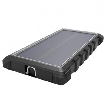 Powerbank Viking W10, 10000mAh, solární, QC 3.0, USB-C černá