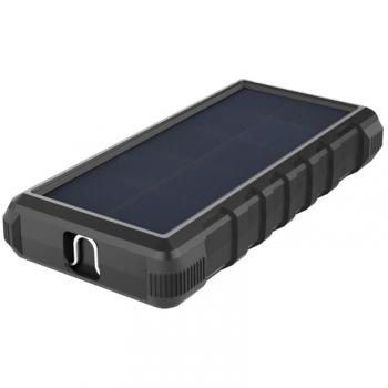 Powerbank Viking W24, 24000mAh, solární, QC 3.0, USB-C černá