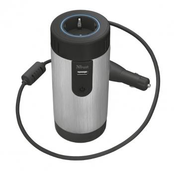 Adaptér do auta Trust Car 230 V Power Socket černý/stříbrný