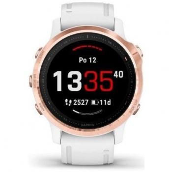 GPS hodinky Garmin fenix6S PRO Glass (MAP/Music) - rosegold/bílé