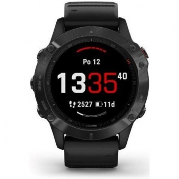 GPS hodinky Garmin fenix6 PRO Glass (MAP/Music) černé