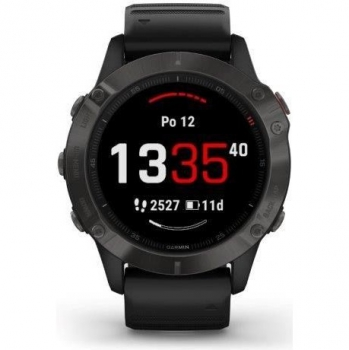GPS hodinky Garmin fenix6 PRO Sapphire (MAP/Music) černé/šedé