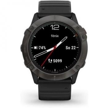 GPS hodinky Garmin fenix6X PRO Solar (MAP/Music) černé/titanium