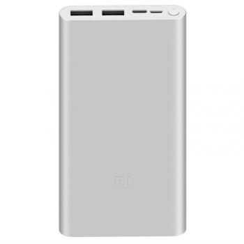 Powerbank Xiaomi Mi 3 18W Fast Charge 10 000 mAh, USB-C stříbrná