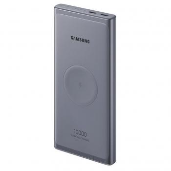 Powerbank Samsung 10000mAh, USB-C, bezdrátové nabíjení šedá