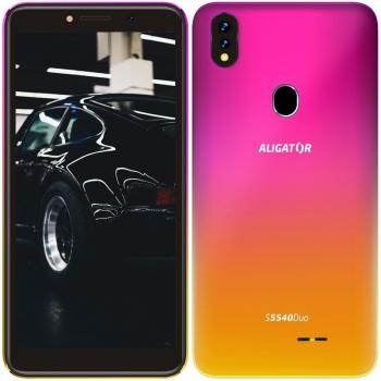 Mobilní telefon Aligator S5540 Dual SIM růžový/zlatý