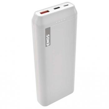 Powerbank EMOS AlphaQ 20, 20000 mAh, USB-C PD 18W, QC 3.0 bílá
