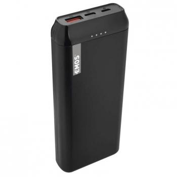 Powerbank EMOS AlphaQ 20, 20000 mAh, USB-C PD 18W, QC 3.0 černá