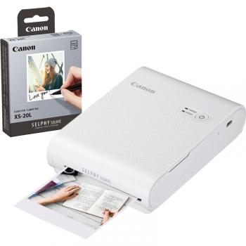 Fototiskárna Canon Selphy Square QX10 + papíry 20 ks bílá