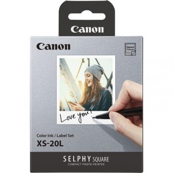 Fotopapír Canon XS-20L pro Selphy Square, 20 ks/68 x 68 mm bílý