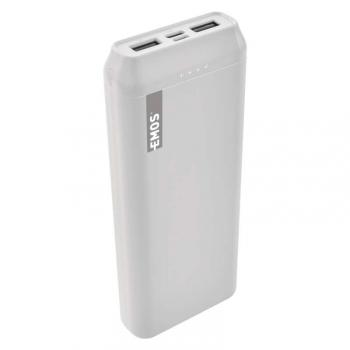 Powerbank EMOS Alpha 20, 20000 mAh, USB-C bílá