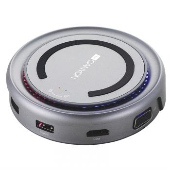 Dokovací stanice Canyon USB/USB-C/HDMI/VGA/USB-C PD 100W šedá
