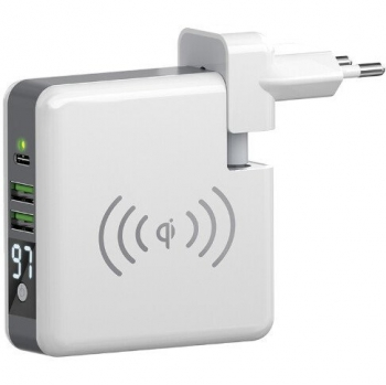 Nabíječka do sítě Forever Core s funkcí powerbanky 6700 mAh, 2x USB, 1x USB-C bílá