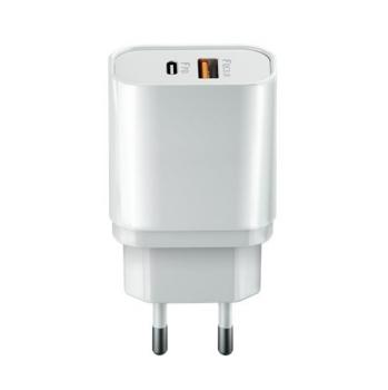 Nabíječka do sítě Forever Core 1x USB-C PD , 1x USB QC 3.0, 20W bílá