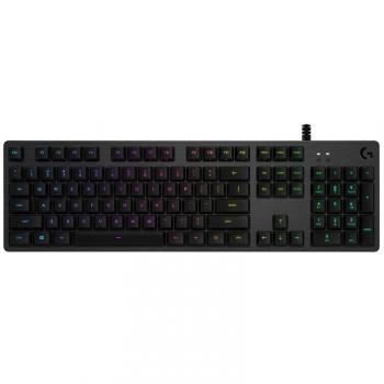 Klávesnice Logitech G512, RGB, GX Brown (hmatové), US černá